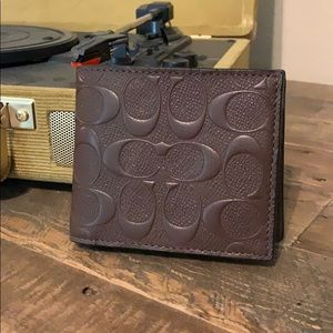 Men's Brown Monogram Coach Wallet